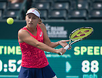 April  6, 2017:    Daria Gavrilova (AUS) battles against Daria Kasatkina (RUS),  at the Volvo Car Open being played at Family Circle Tennis Center in Charleston, South Carolina.  ©Leslie Billman/Tennisclix/Cal Sport Media