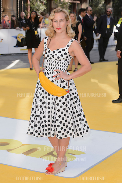 """Charlotte Dellal at the world premiere of """"Minions"""" at the Odeon, Leicester Square, London.<br /> June 11, 2015  London, UK<br /> Picture: Dave Norton / Featureflash"""