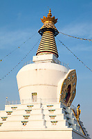 India, Dehradun.  Stupa of the Buddhist Temple of Dehradun and Mindrolling Monastery.