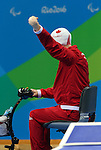 Nathan Clement, Rio 2016 - Para Swimming // Paranatation.<br /> Nathan Clement swims in the men's 50m fly finals // Nathan Clement nage dans la finale du 50 m mouche masculin. 09/09/2016.