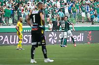São Paulo (SP), 16/02/2020 - Palmeiras-Mirassol - Gustavo Gómez comemora primeiro gol.  Palmeiras e Mirassol, durante partida válida pela sexta rodada do campeonato paulista 2020, no Allianz Parque, zona oeste da capital, na tarde deste domingo (16).