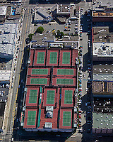 aerial photograph San Francisco Tennis Club rooftop tennis San Francisco, California