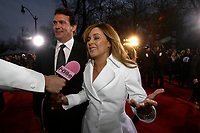 Montreal (qc) CANADA -  April 22, 2012 file photo - - ARTIS Gala - - Pierre-Karl Peladeau and wife Julie Snyder<br /> <br />  - Pierre-Karl Peladeau and wife Julie Snyder