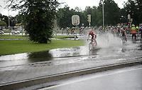 When André Greipel (DEU/Lotto-Soudal) makes a splash...<br /> <br /> stage 3: Buchten - Buchten (NLD/210km)<br /> 30th Ster ZLM Toer 2016