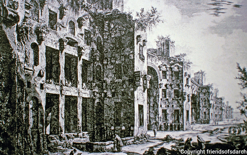 Giovanni Battista Piranesi(1720-1778), a famous Italian artist known for his etchings of Rome.