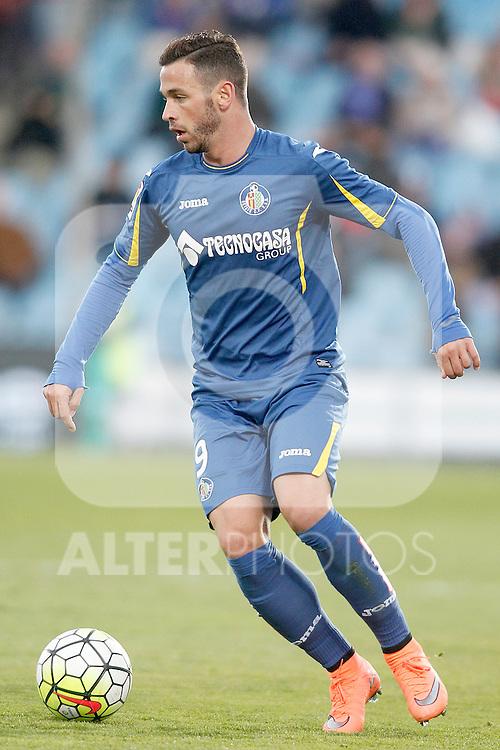 Getafe's Alvaro Vazquez during La Liga match. February 27,2016. (ALTERPHOTOS/Acero)