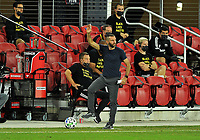 WASHINGTON, DC - SEPTEMBER 27: Ben Olsen Head Coach of D.C. United during a game between New England Revolution and D.C. United at Audi Field on September 27, 2020 in Washington, DC.