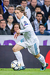 Luka Modric of Real Madrid in action during the UEFA Champions League 2017-18 quarter-finals (2nd leg) match between Real Madrid and Juventus at Estadio Santiago Bernabeu on 11 April 2018 in Madrid, Spain. Photo by Diego Souto / Power Sport Images