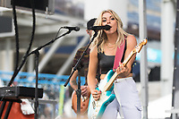 NASHVILLE, TN - SEPTEMBER 5: Lindsay Ell performs at US Soccer FanHQ at Nissan Stadium on September 5, 2021 in Nashville, Tennessee.