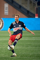 FOXBOROUGH, MA - OCTOBER 19: Henry Kessler #4 of New England Revolution during a game between Philadelphia Union and New England Revolution at Gillette on October 19, 2020 in Foxborough, Massachusetts.