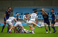 29th August 2020; AJ Bell Stadium, Salford, Lancashire, England; English Premiership Rugby, Sale Sharks versus Bristol Bears; Tom Curry of Sale Sharks attempts to block a kick by Andy Uren of Bristol Bears