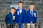 Spa NS students, Adam O'Donnell, Ronan Riley, Conor Stack receiving their First Holy Communion in Churchill on Saturday.