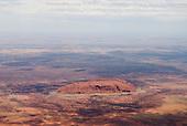 Uluru, Australia. Uluru (Ayers Rock) from the air.