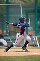 Atlanta Braves Carlos Castro (29) during a minor league Spring Training game against the Detroit Tigers on March 25, 2017 at ESPN Wide World of Sports Complex in Orlando, Florida.  (Mike Janes/Four Seam Images)