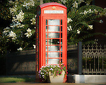 Telephone booth in Oxford, Miss.