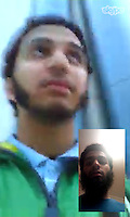 Pictured: Skype chat images of Aseel Muthana recovered from Forhad Rahman's phone. They are dated 22/02/2014 (the day after Aseel Muthana left the UK). The small inserted picture is of RAHMAN<br />
