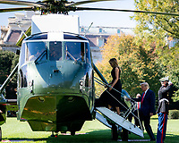 President Trump and First Lady Melania Trump Depart for Tennessee<br /> <br /> President Donald J. Trump and First Lady Melania Trump board Marine One on the South Lawn of the White House Thursday, Oct. 22, 2020, to begin their trip to Nashville, Tenn. (Official White House Photo by Tia Dufour)