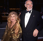 Sean Connery and wifeMicheline Roquebrune attend  the Tony Awards at Radio City Music Hall in New York City on 6/7/98