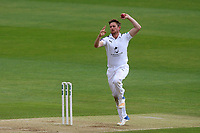Liam Dawson in bowling action for Hampshire during Essex CCC vs Hampshire CCC, Specsavers County Championship Division 1 Cricket at The Cloudfm County Ground on 20th May 2017
