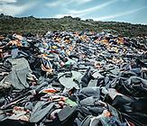 Schwimmwestenfriedhof, Molivos, Lesbos, Griechenland