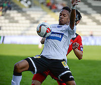 KSV Roeselare : Jean-Francois ' Jef ' Mbuba <br /> foto VDB / BART VANDENBROUCKE