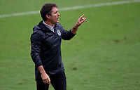 LOS ANGELES, CA - OCTOBER 25: Guillermo Barros Schelotto head coach of the Los Angeles Galaxy during a game between Los Angeles Galaxy and Los Angeles FC at Banc of California Stadium on October 25, 2020 in Los Angeles, California.