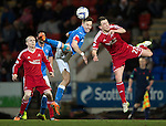 St Johnstone v Aberdeen...23.01.15   SPFL<br /> Steven MacLean and Ryan Jack<br /> Picture by Graeme Hart.<br /> Copyright Perthshire Picture Agency<br /> Tel: 01738 623350  Mobile: 07990 594431