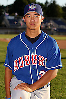 August 28th, 2007:  Chi-Hung Cheng of the Auburn Doubledays, Class-A affiliate of the Toronto Blue Jays at Dwyer Stadium in Batavia, NY.  Photo by:  Mike Janes/Four Seam Images