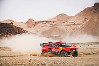 7th January 2021; Riyadh to Buraydah, Saudi Arabia; Dakar Rally, stage 5;  311 Roma Nani (esp), Winocq Alexandre (fra), Hunter, Bahrain Raid Extreme, BRX, Auto, action during the 5th stage of the Dakar 2021 between Riyadh and Buraydah, in Saudi Arabia on January 7, 2021