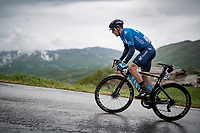 Nelson Oliveira (POR/Movistar) up the Colle Passerino (3km from the finish)<br /> <br /> 104th Giro d'Italia 2021 (2.UWT)<br /> Stage 4 from Piacenza to Sestola (187km)<br /> <br /> ©kramon