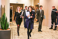 PARIS , MINISTERE DE LA SANTE LE 20 FEVRIER 2017 .<br /> LANCEMENT DE LA CAMPAGNE NATIONALE D'INFORMATION SUR LA FIN DE VIE PAR MARISOL TOURAINE .