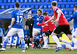 St Johnstone v Clyde…17.04.21   McDiarmid Park   Scottish Cup<br />Stevie May tries to find a way thgrough the Clyde defence<br />Picture by Graeme Hart.<br />Copyright Perthshire Picture Agency<br />Tel: 01738 623350  Mobile: 07990 594431