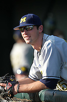 Kolby Wood #35 of the Michigan Wolverines during the Big East-Big Ten Challenge vs. the Louisville Cardinals at Al Lang Field in St. Petersburg, Florida;  February 18, 2011.  Louisville defeated Michigan 6-3.  Photo By Mike Janes/Four Seam Images