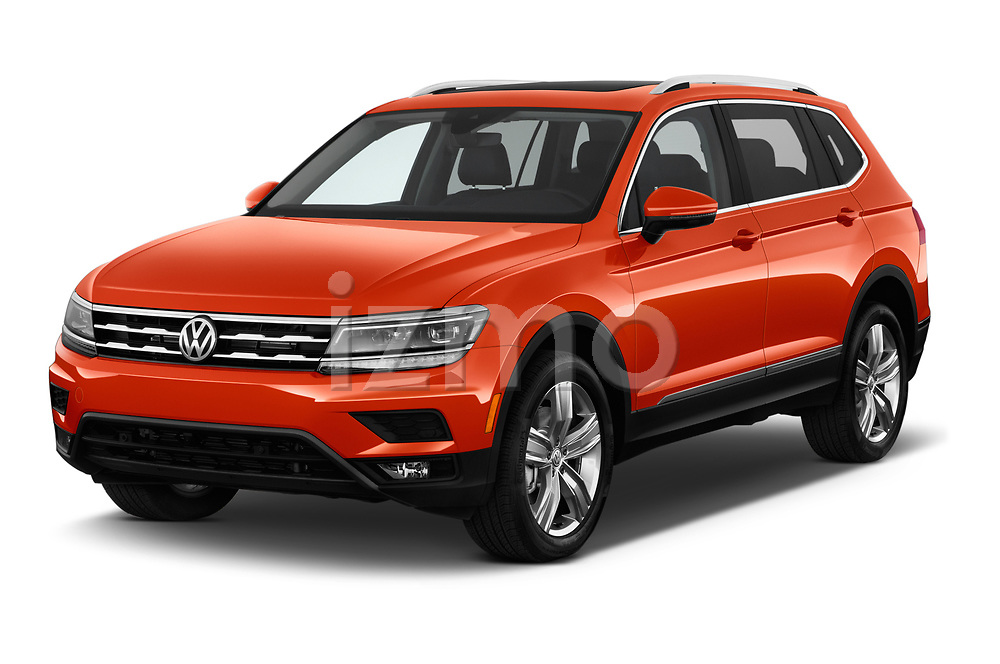 2018 Volkswagen Tiguan SEL 4Motion 5 Door SUV angular front stock photos of front three quarter view