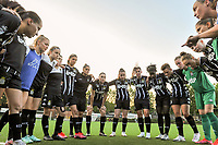 peptalk team Charleroi pictured before a female soccer game between Sporting Charleroi and SV Zulte-Waregem on the third matchday in the 2021 - 2022 season of Belgian Scooore Womens Super League , friday 3 September 2021 in Marcinelle , Belgium . PHOTO SPORTPIX | STIJN AUDOOREN