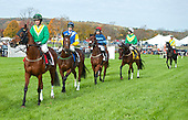 Charminster leads Pierrot Lunaire, Royal Bonsai, You're The Top, and Demonstrative to the course for the Grand National.