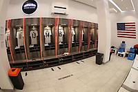 GUADALAJARA, MEXICO - MARCH 24: USMNT U-23 locker room before a game between Mexico and USMNT U-23 at Estadio Jalisco on March 24, 2021 in Guadalajara, Mexico.