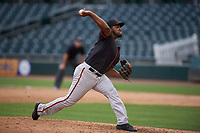 AZL Giants Black relief pitcher Keyvius Sampson (38) during a rehab assignment in an Arizona League game against the AZL Athletics Gold on July 12, 2019 at Hohokam Stadium in Mesa, Arizona. The AZL Giants Black defeated the AZL Athletics Gold 9-7. (Zachary Lucy/Four Seam Images)