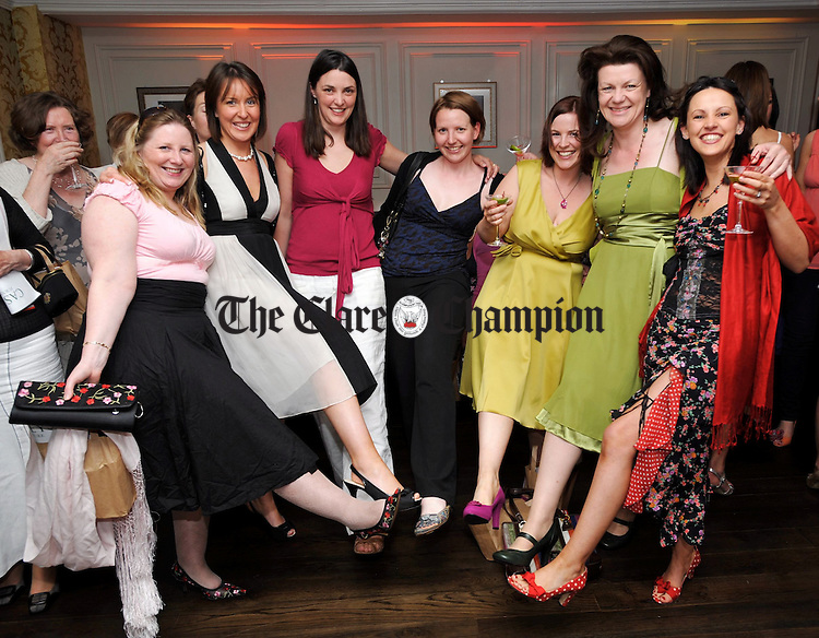 Leonora Carey, Leonora Clohessy, Sinead Slattery, Kirsten Luther, Niamh Doyle, Rosie Gowran and Orla Jones  attending a cocktails and canapes post-premiere party at Rogues Wine Bar, following a charity premiere of Sex And The City in aid of Action Breast Cancer. Photograph by John Kelly...