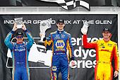 Verizon IndyCar Series<br /> IndyCar Grand Prix at the Glen<br /> Watkins Glen International, Watkins Glen, NY USA<br /> Sunday 3 September 2017<br /> Alexander Rossi, Curb Andretti Herta Autosport with Curb-Agajanian Honda, Scott Dixon, Chip Ganassi Racing Teams Honda, Ryan Hunter-Reay, Andretti Autosport Honda<br /> World Copyright: Michael Levitt<br /> LAT Images