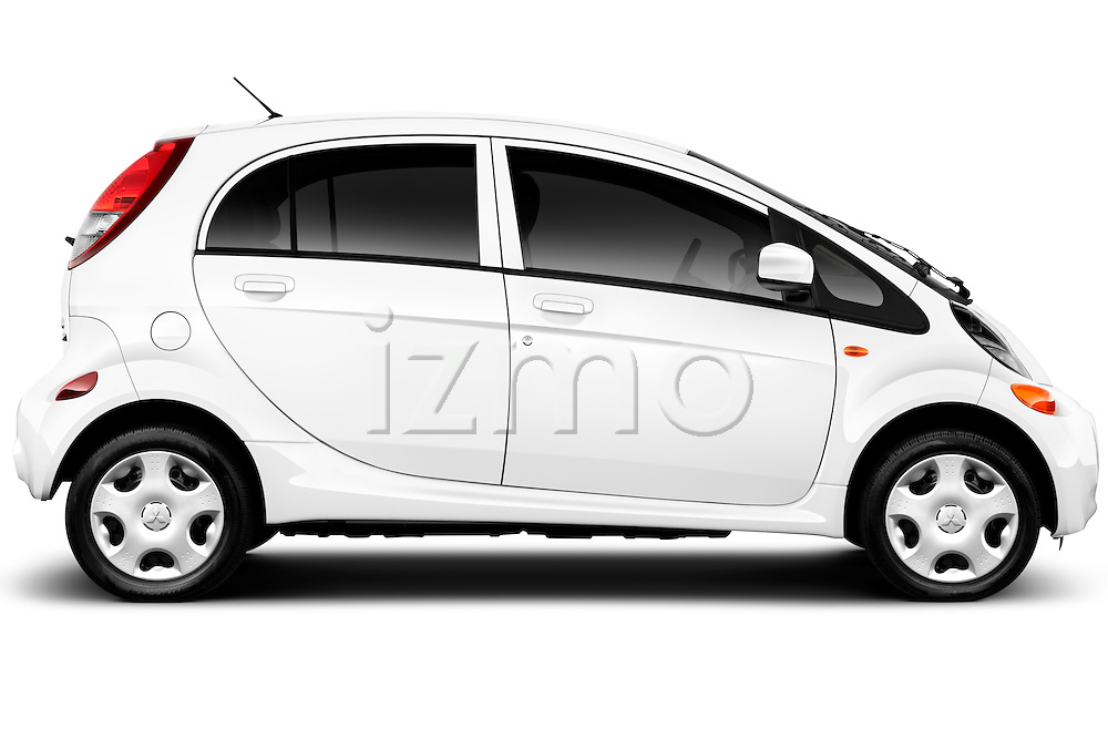 Passenger side profile view of a 2012 Mitsubishi MiEV ES.