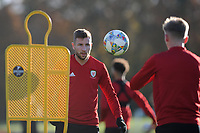 Paul Dummett of Wales in action during the Wales Training Session at The Vale Resort in Cardiff, Wales, UK. Monday 12 November 2018