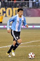 Nicolas Burdisso (4) of Argentina. The United States (USA) and Argentina (ARG) played to a 1-1 tie during an international friendly at the New Meadowlands Stadium in East Rutherford, NJ, on March 26, 2011.