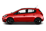 Car Driver side profile view of a 2018 Opel Corsa Black-Edition 5 Door Hatchback Side View
