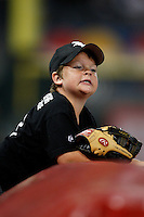 August 7, 2009:  White Sox fan asking for a ball during a game for the Chicago White Sox vs. the Cleveland Indians at U.S. Cellular Field in Chicago, IL.  The Indians defeated the White Sox 6-2.  Photo By Mike Janes/Four Seam Images