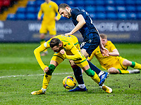 13th March 2021; Global Energy Stadium, Dingwall, Highland, Scotland; Scottish Premiership Football, Ross County versus Hibernian; Alex Iacovitti of Ross County fouls Martin Boyle of Hibernian in the box and Hibs are awarded a penalty