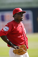 July 11 2009: Marcos Luis of the Vancouver Canadians before game against the Boise Hawks at Nat Bailey Stadium in Vancouver,BC..Photo by Larry Goren/Four Seam Images
