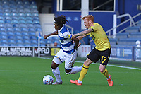 Eberechi Eze of Queens Park Rangers pushed by Ryan Woods of Millwall during Queens Park Rangers vs Millwall, Sky Bet EFL Championship Football at Loftus Road Stadium on 18th July 2020