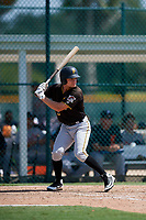 Pittsburgh Pirates Arden Pabst (75) at bat during a Florida Instructional League game against the Detroit Tigers on October 2, 2018 at the Pirate City in Bradenton, Florida.  (Mike Janes/Four Seam Images)