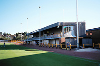 The main stand at Alloa Athletic FC Football Ground, Recreation Park, Alloa, Scotland, pictured on 26th July 1999